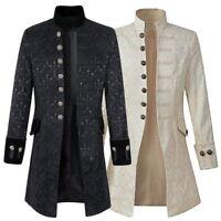 Retro Mens  Brocade Jacket Frock Coat  VTG Victorian Morning Coat