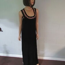 Victoria's Secret Flax Viscose Embellished Cutout Maxi Sweaterdress Black M.S