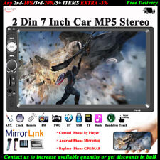 7'' 2 DIN Touch Screen Car Radio Stereo Mirror Link FM/AUX/USB/TF Bluetooth MP5