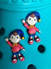 2 Noddy Shoe Charms For Crocs & Jibbitz Wristbands. Free UK P&P