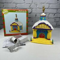 Grinch Who-ville CITY HALL Dept 56 Christmas Village Holiday Dr Seuss RETIRED