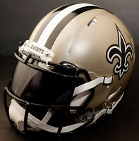***CUSTOM*** NEW ORLEANS SAINTS NFL Riddell Revolution SPEED Football Helmet