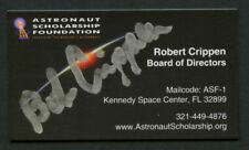 Bob Crippen signed auto Astronaut Scholarship Foundations Business Card BC495