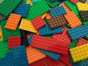 LEGO 20 MIXED COLOUR BASE PLATES