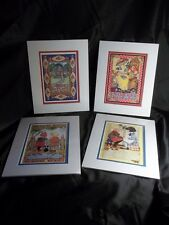 Mary Engelbreit Lot Of 4 Matted Cards/Prints 8X11 Make A Wish,Princess,Friends