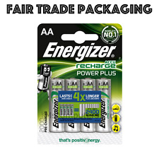 4 Pack Energizer AA Batteries Accu Recharge Power Plus 2000mAh Pre-charged