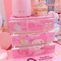 Japan My Melody 3 Layers Dressing Case Jewelry Box Storage Box Cosmetics Case
