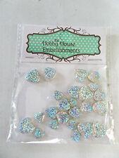The Hobby House -Rhinestone Sparklers Tiny Hearts Aurora -8mm/10mm/12mm -Qty 24