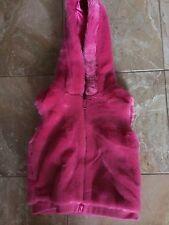Gymboree Super Star Reversible Faux Fur Hooded Vest Size 4T-5T EUC