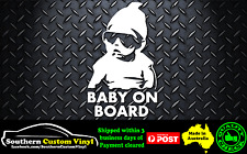 Baby on Board cool baby with sunglasses Car Window Sticker Decal