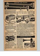 1956 PAPER AD Hadley Car Truck Air Horns Sparton 3-D Booster Horn