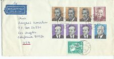 GERMANY DDR FAMOUS LEADERS COVER to USA