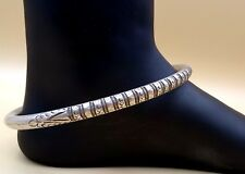 Anklet Kada Ankle Feet Bracelet sfk01 Vintage Antique Tribal Old Silver Singe