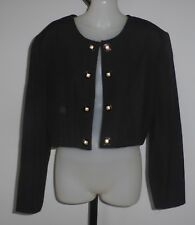 KATIES Size 10 Short Black Bolero Jacket - Not heavy fabric