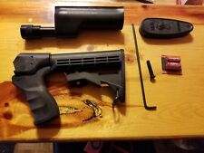 Winchester 1200 1300 1400 shotgun    collapsible stock and surefire forend light