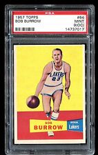 1957 Topps #64 *BOB BURROW* MINT PSA 9 (oc)! pop 1 of 2! part of set break