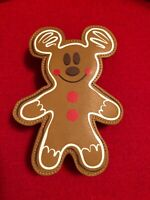 Disney Parks Holiday Mickey Mouse Gingerbread Cookie Pouch New with Tag