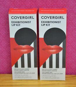 Covergirl Exhibitionist Lip Kit 295 Succulent Cherry / 220 Cherry Red