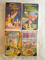 Walt Disney's Black Diamond Classic VHS LOT - RARE, Beauty and the Beast & more!