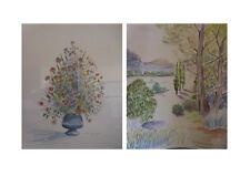 Peintures aquarelles ELIAN LETOURNEAU 1996 ARTBOOK by PN