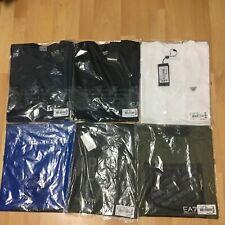 NWT-Armani-AJ-EA7-Stretch-Cotton-T-Shirt -S/Sleeve-Black-White-Navy-Khaki S-XXL