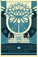 GREEN POWER & GLORY SHEPARD Fairey OBEY GIANT art poster SCREENPRINT