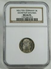 ND (1755) Eichstadt-Bavaria, Germany Silver 3K Coin Certified NGC MS 66 PL