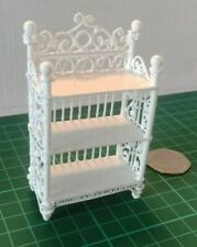 White Wire decorative shelves #a6: Vintage Dolls house furniture