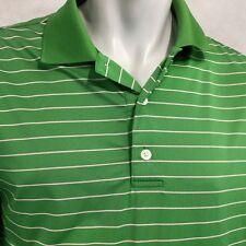 FootJoy Polo Golf Shirt Sz L Green Stripes FJ Smuggler's Glen 1000 Island