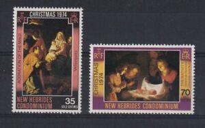 NEW HEBRIDES English 1974 Christmas Set MNH