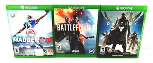 Destiny - Battlefield 1 - Madden NFL 16 Microsoft Xbox One Lot Great Cond Tested
