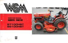Kubota B7100HST B6100HST ( B7100 B6100 HST ) Tractor WSM Service Manual on a CD