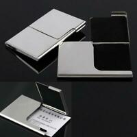 Stainless Steel Business ID Credit Card Holder Wallet # Case Pocket Box Met W5M4
