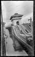 Vintage-Negativ-Panama-Kanal-Canal-Passagier-Dampfer-Schiff-Ship-Bahn-1920s-2