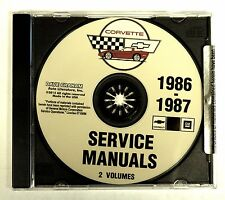 1986 87 CORVETTE CD SHOP SERVICE REPAIR MANUAL ENGINE DRIVE TRAIN MECHANICAL & M