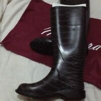 Black maniera high quality wellington rain boots size adult 4-6 brand new boxed