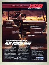 1985 Nissan ST King Cab 4x4 Pickup Truck vintage print Ad