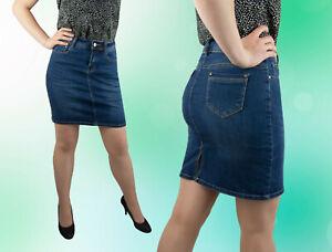 Damen Rock Jeansrock Jeans Blau Mini Minirock   36 38 40  -