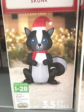 Holiday Time Inflatable Skunk 3.5 Ft Tall Airblown Gemmy Christmas Decor