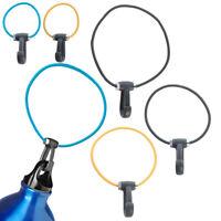 6pc Keys Water Bottle Elastic Cord Carabiner Clip For Backpack Purse Stroller
