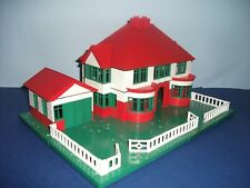 BAYKO HOUSE & GARAGE COMPLETE WITH ALL PARTS & BUILDING INSTRUCTIONS