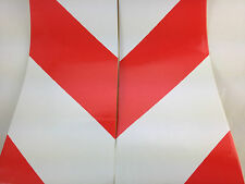 Red/White Chevron Reflective Tape/Vinyl 13m x 150mm