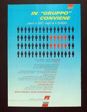 F162 - Advertising Pubblicità - 1992 - FERROVIE ITALIANE