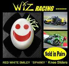 WIZ SPARKY RED-WHITE SMILEY KNEE SLIDERS