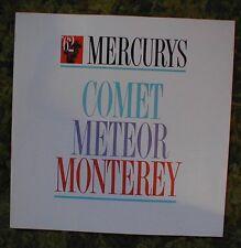 1962 Mercury Sales Brochure Comet, Meteor, Monterey 62