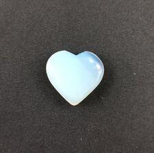 Hand Carved Opalite Glass Heart Shaped Stone 30mm Crystal Healing Reiki Gemstone