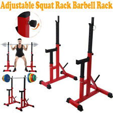 Squat Rack Adjustable Bench Press Weight Exercise Barbell Stand Gym Equipment