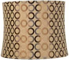 Copper Circles Medium Drum Lamp Shade 13' Top x 14' Bottom x 11' High (Spider)
