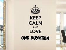 KEEP CALM AND LOVE ONE DIRECTION Decal WALL STICKER Home Decor Art Quote SQ86