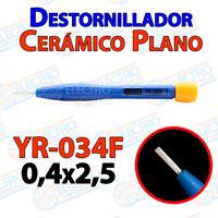 Destornillador PLANO ceramica YR-034F 0,4x2,5 ajuste pololu 3D mini ceramico